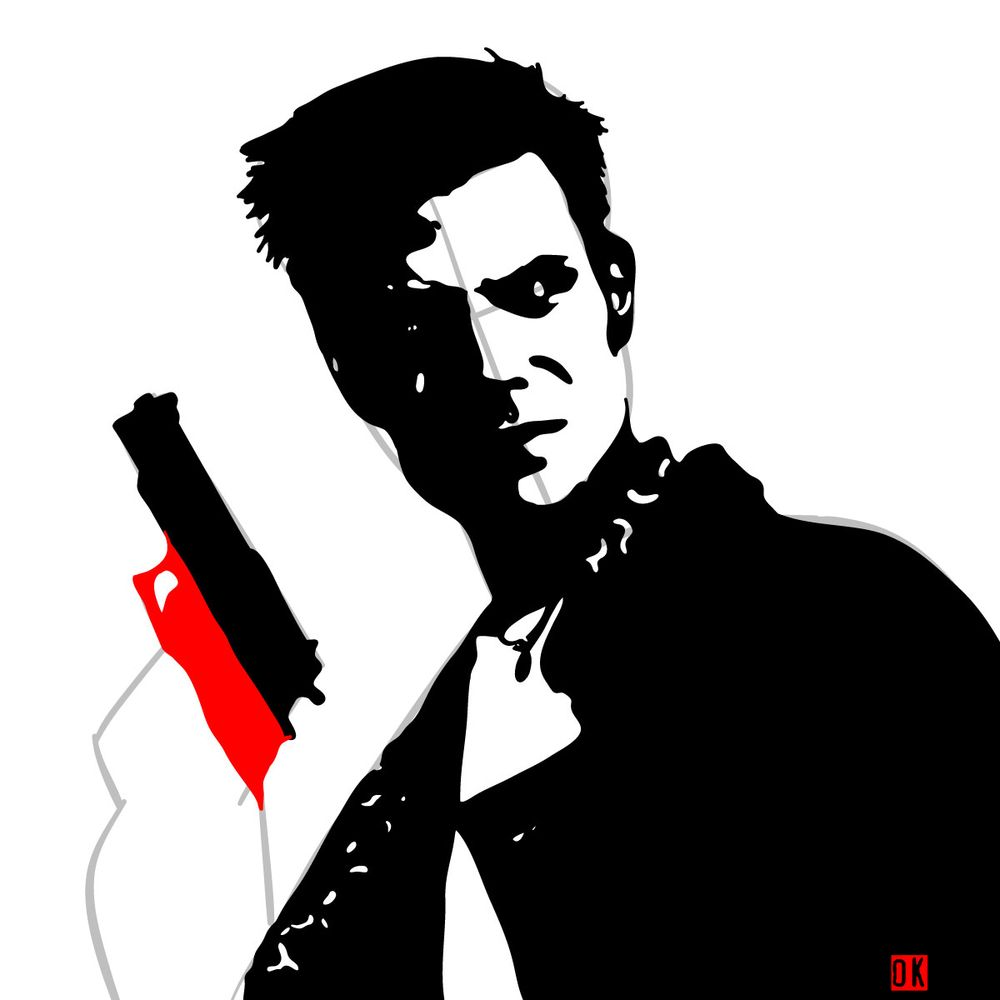 How to draw Max Payne - step 13