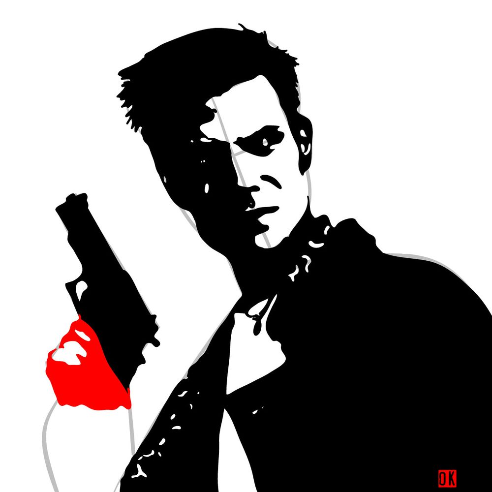 How to draw Max Payne - step 14