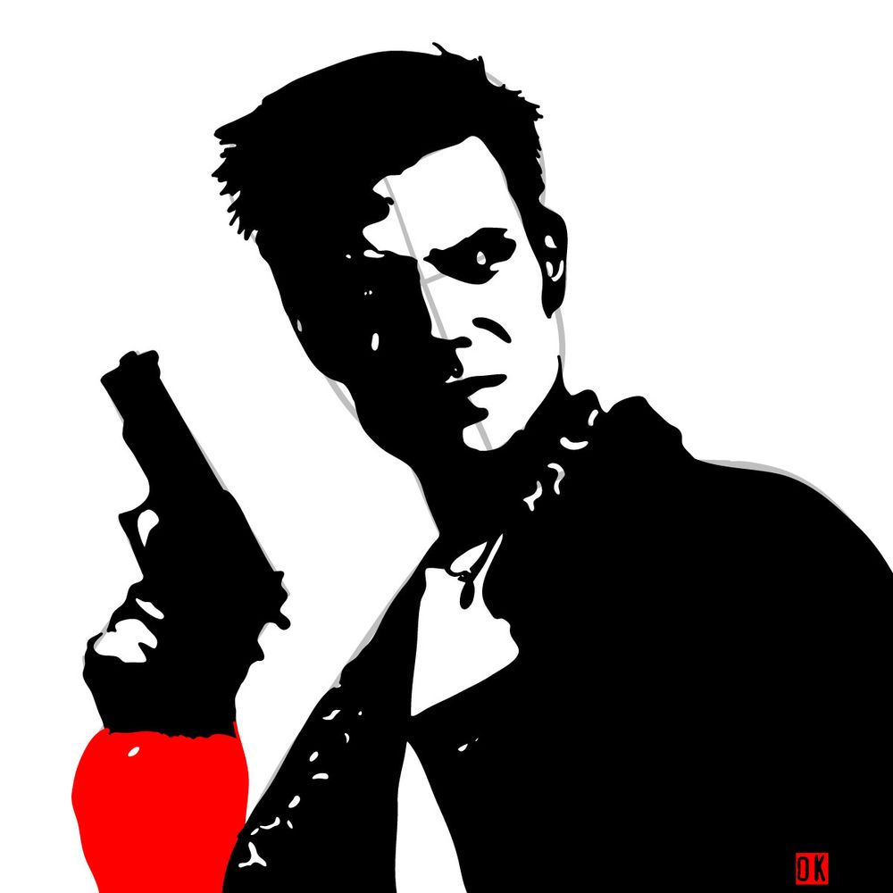 How to draw Max Payne - step 15