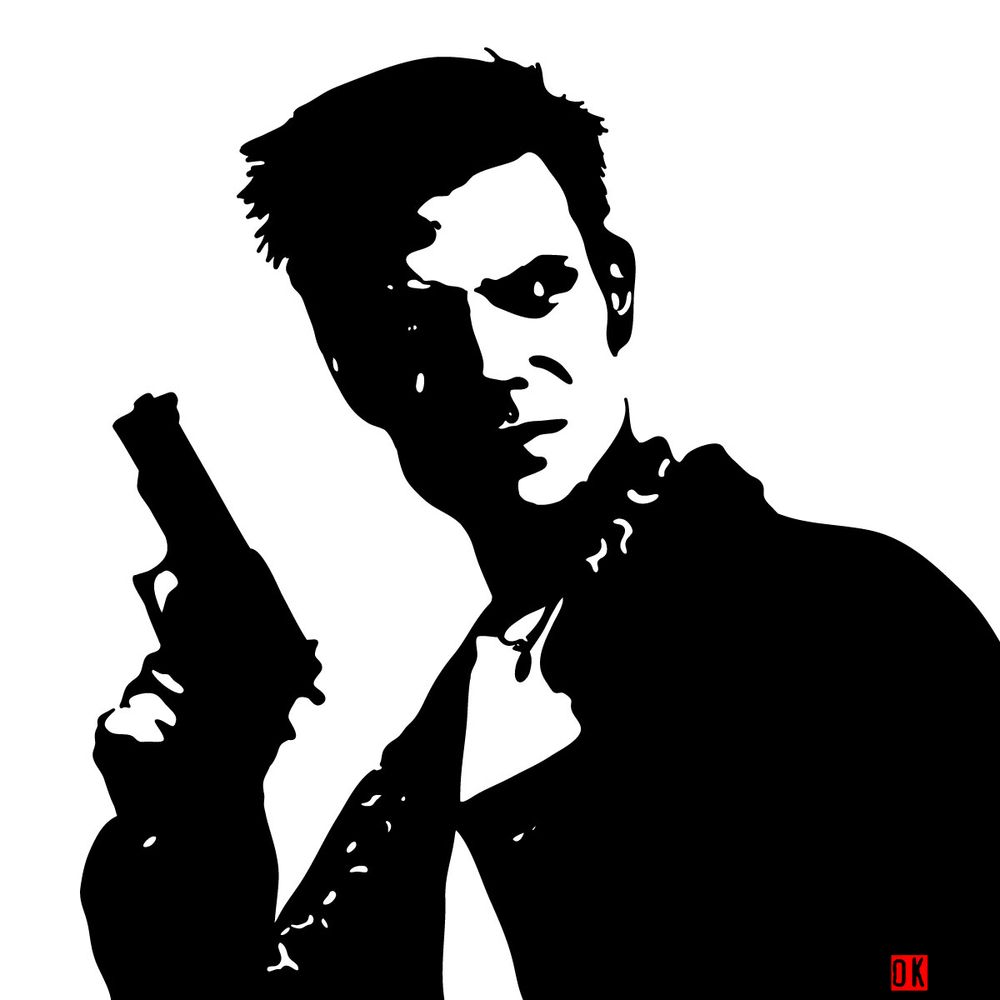How to draw Max Payne