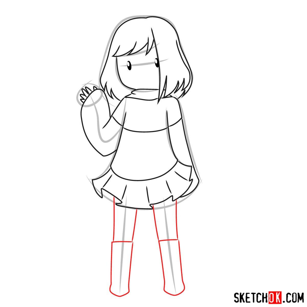 How to draw Betty Noir from Undertale - step 09