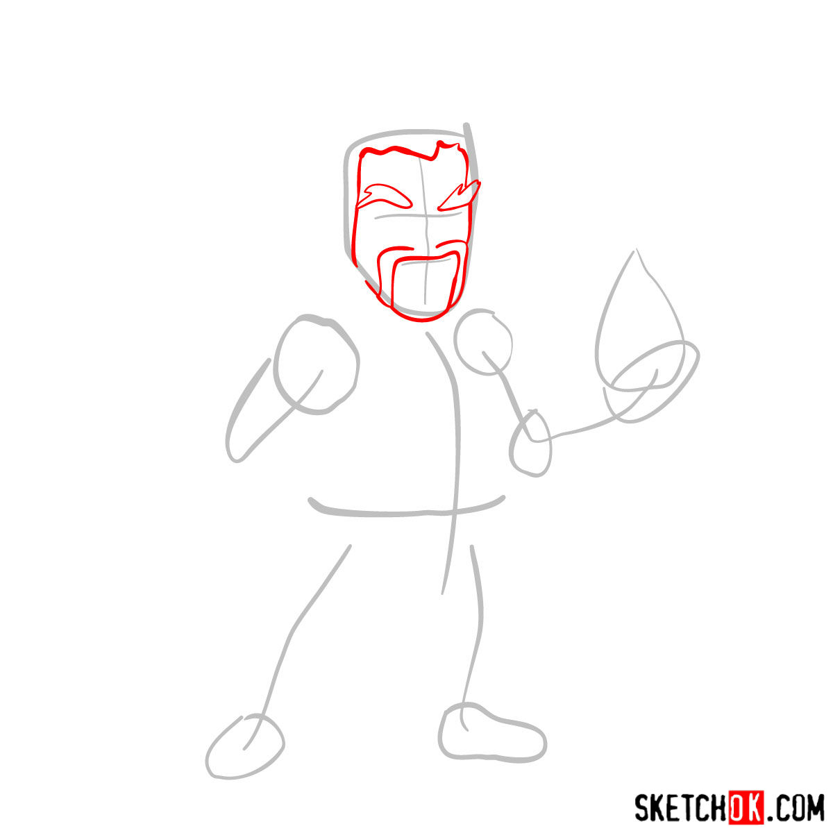 How to draw Ice Wizard from Clash of Clans - step 02