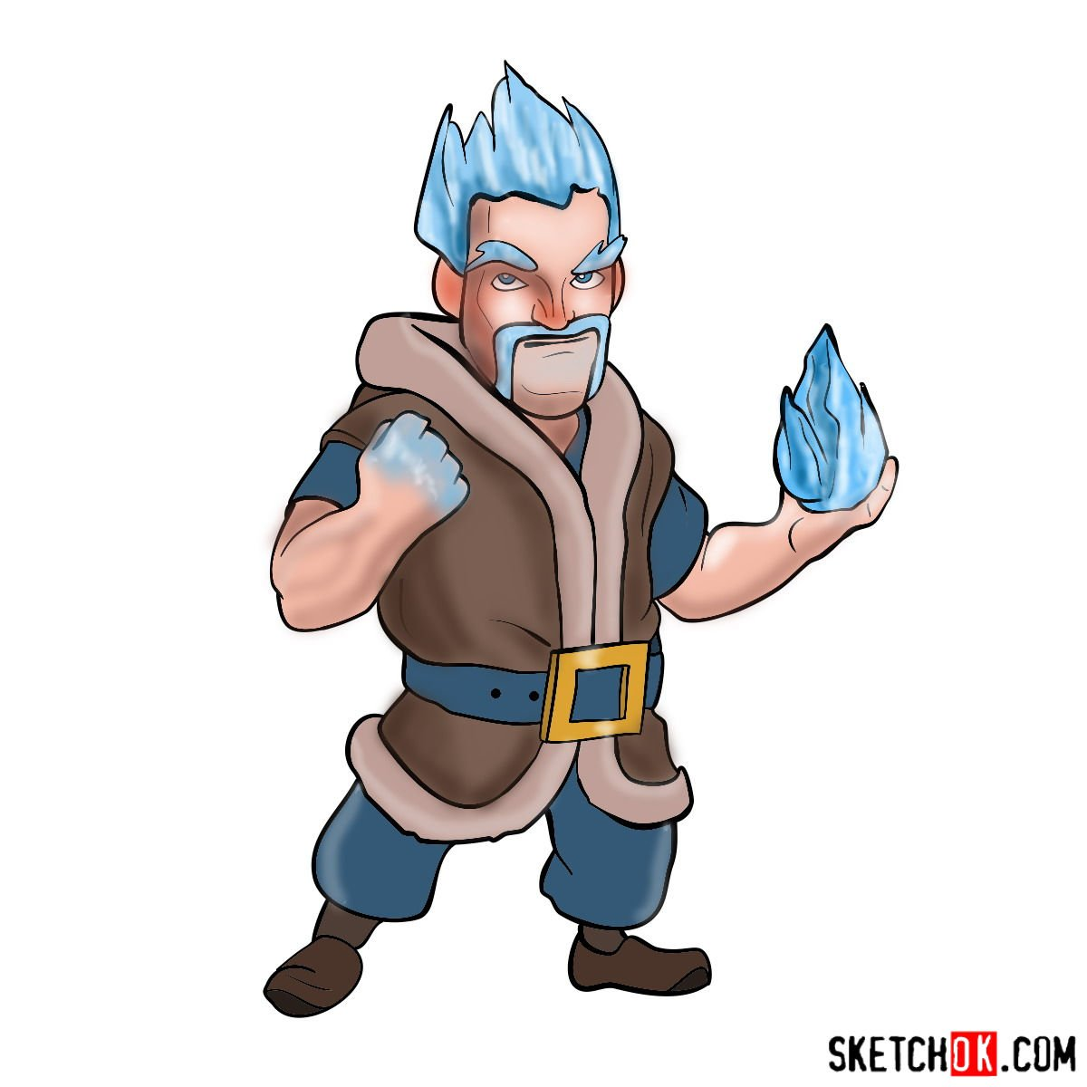 How to draw Ice Wizard from Clash of Clans