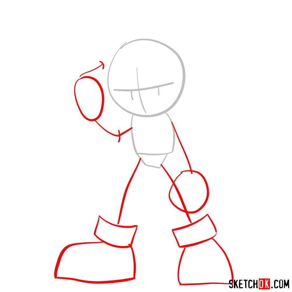 How to draw Scourge the Hedgehog - step 02