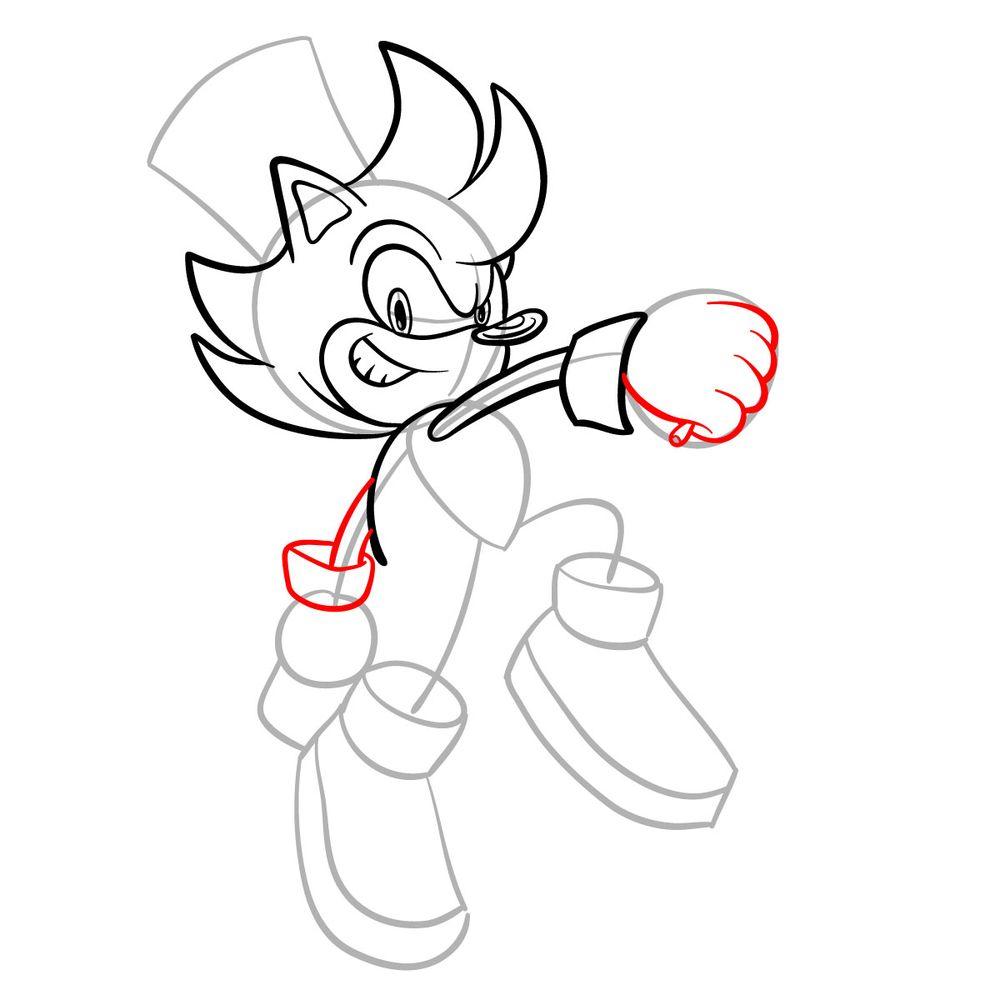 How to draw Irish the Hedgehog - step 10
