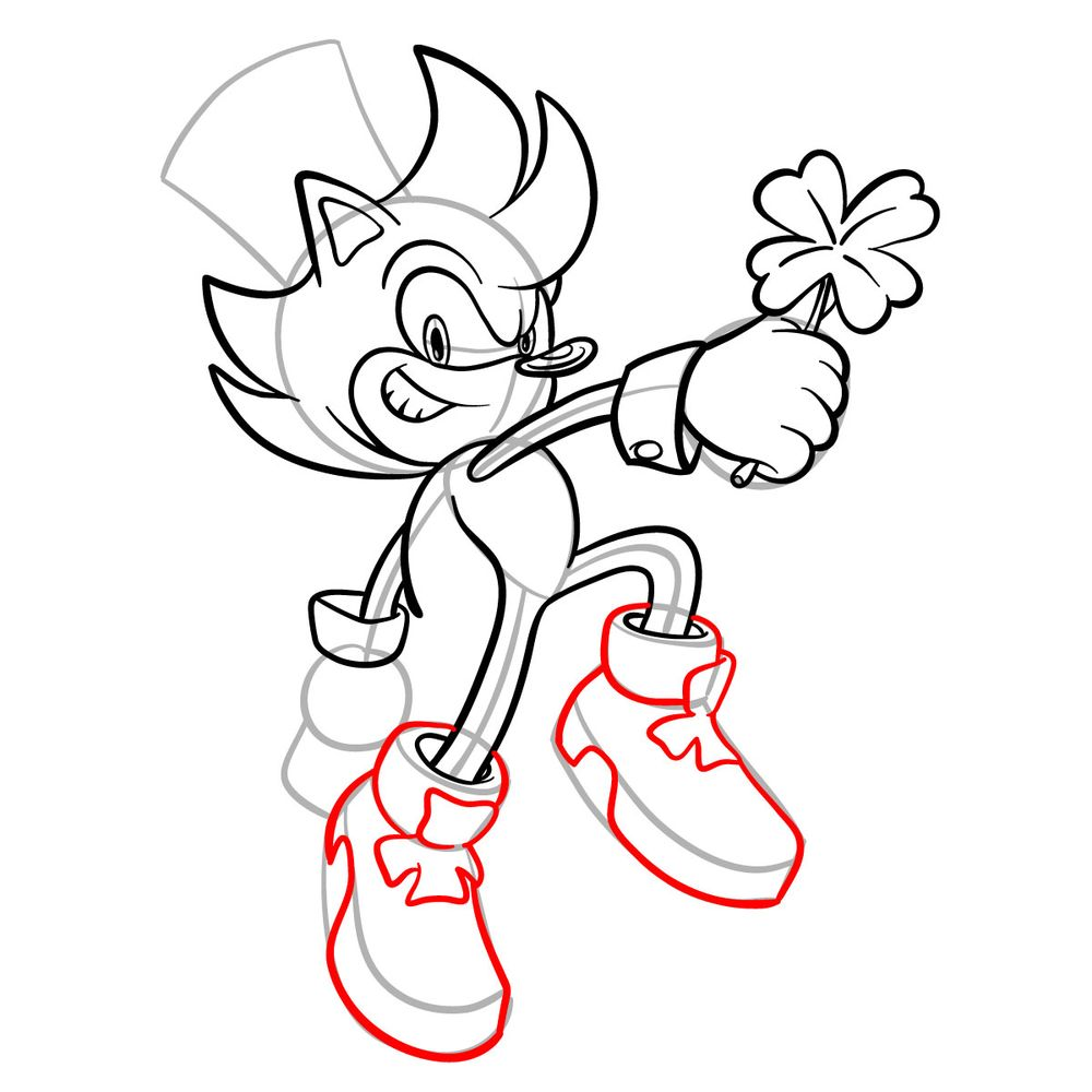 How to draw Irish the Hedgehog - step 15