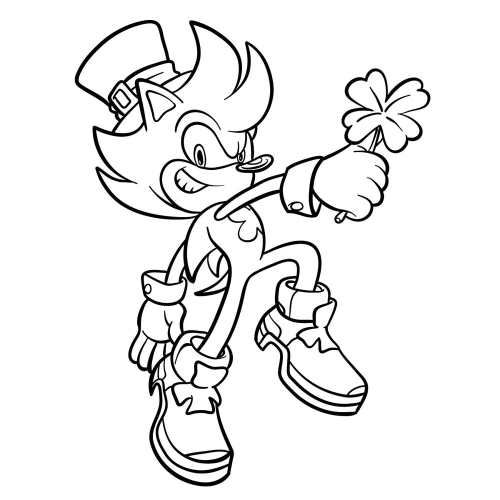 How to draw Irish the Hedgehog