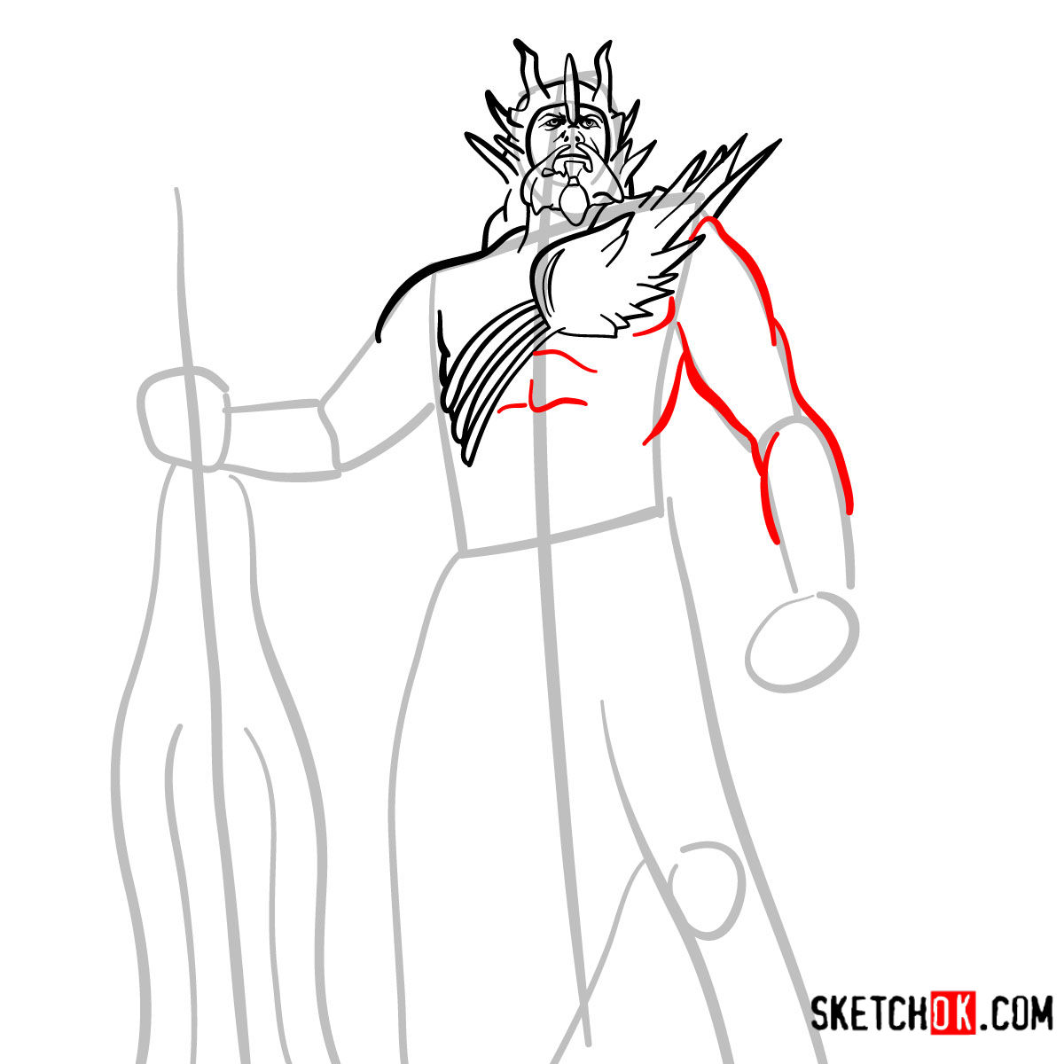 How To Draw Poseidon God Of War Step By Step Drawing