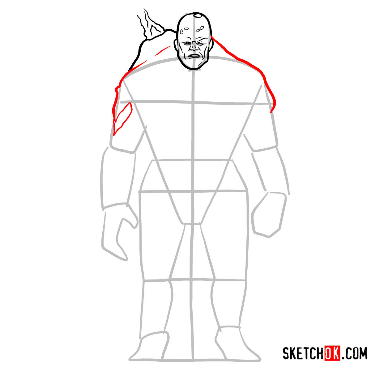 How to draw Perses | God of War - step 07