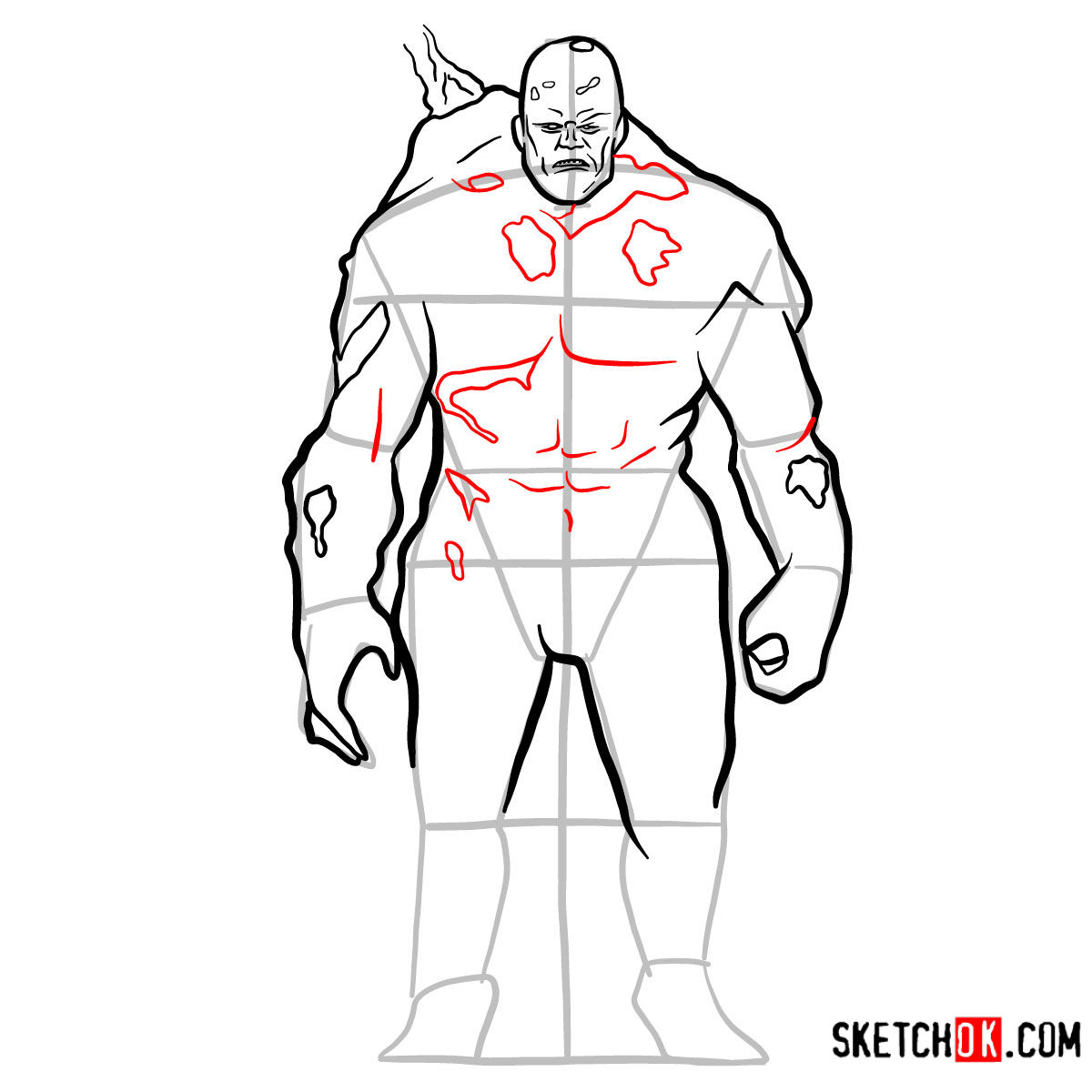 How to draw Perses | God of War - step 11