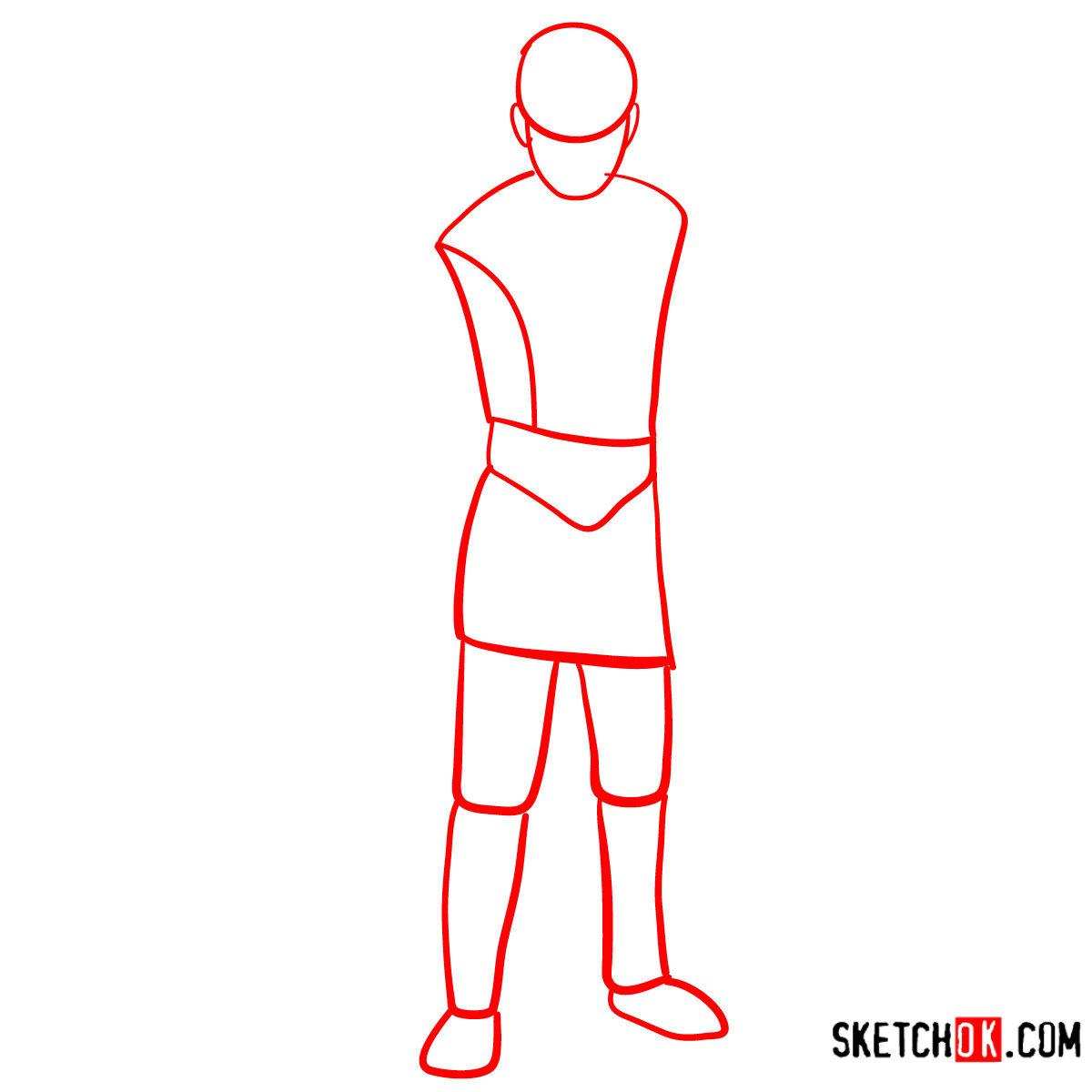 How to draw Atreus   God of War - step 01