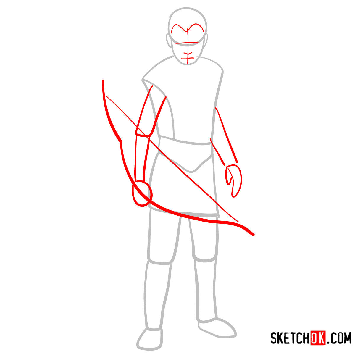 How to draw Atreus   God of War - step 02