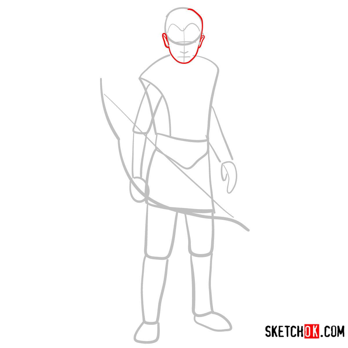 How to draw Atreus   God of War - step 03
