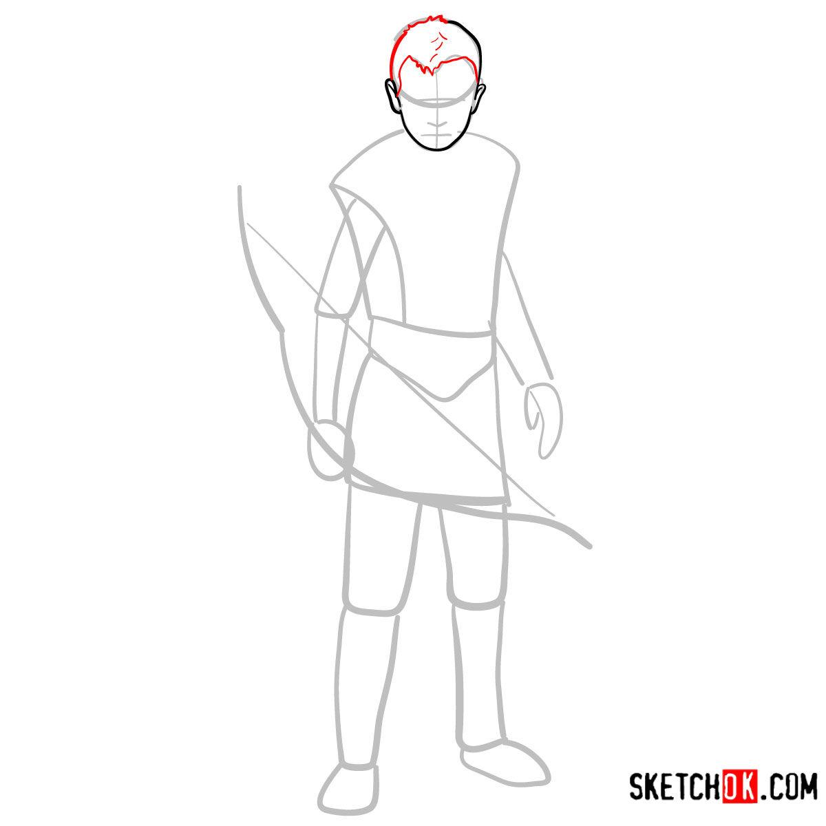 How to draw Atreus   God of War - step 04