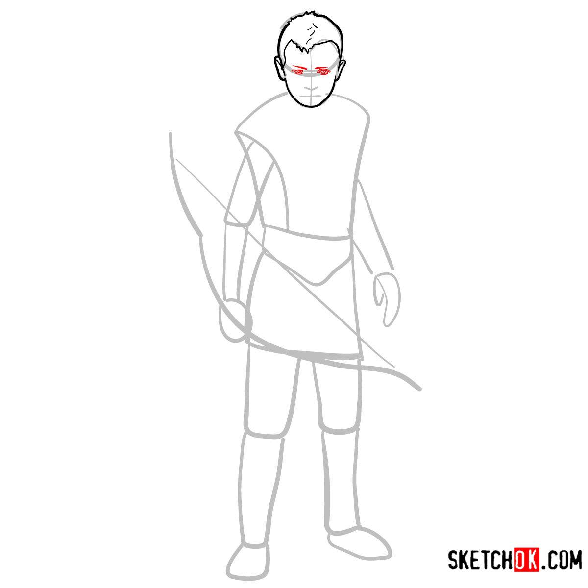How to draw Atreus   God of War - step 05