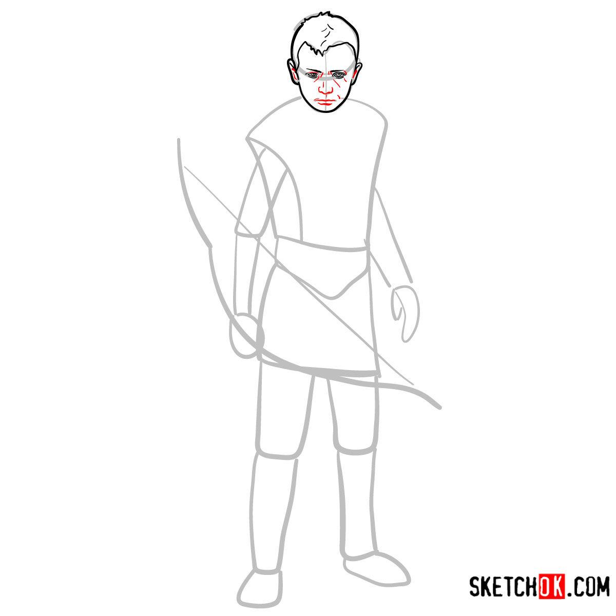 How to draw Atreus   God of War - step 06