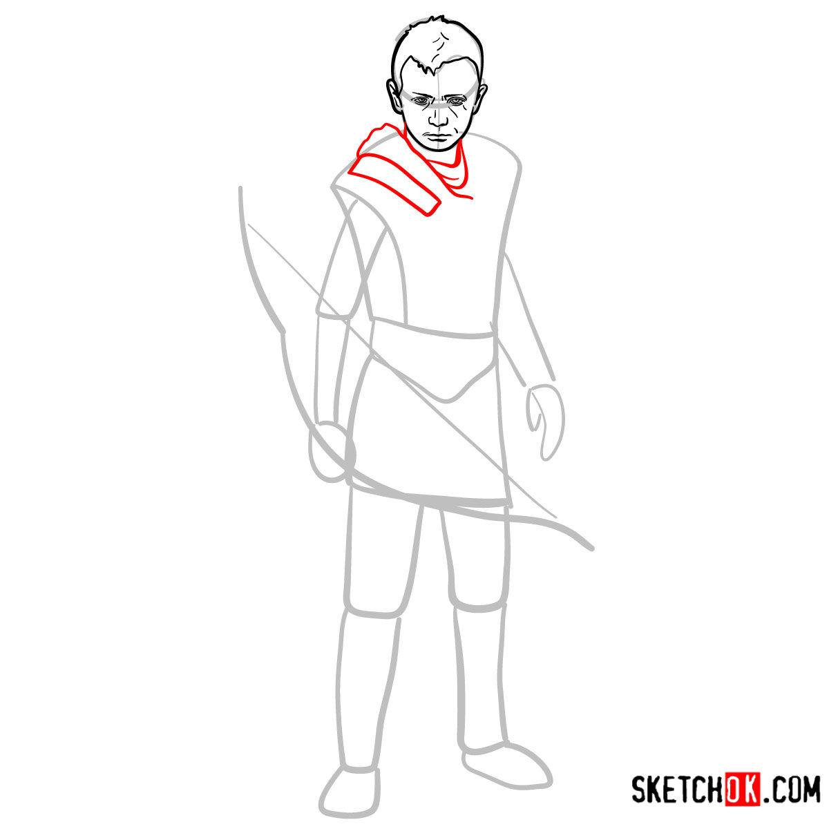 How to draw Atreus   God of War - step 07