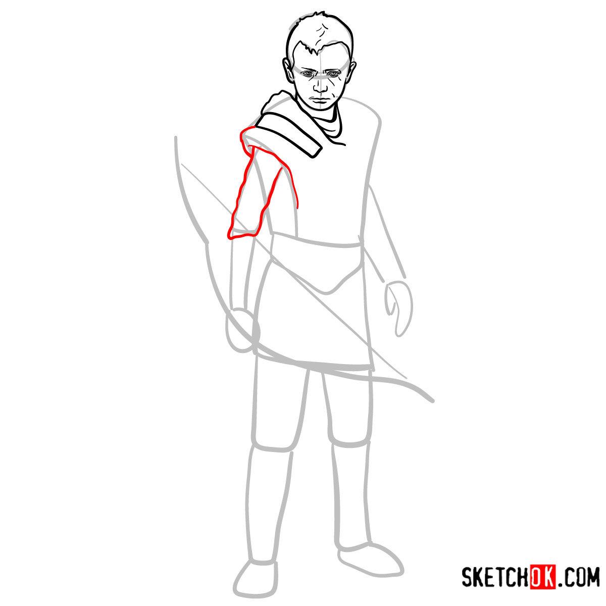 How to draw Atreus   God of War - step 08