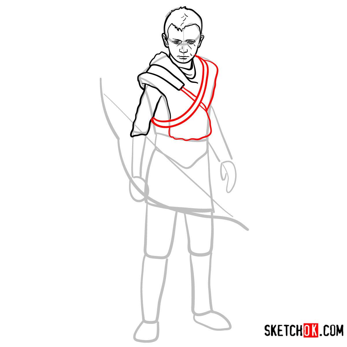 How to draw Atreus   God of War - step 09