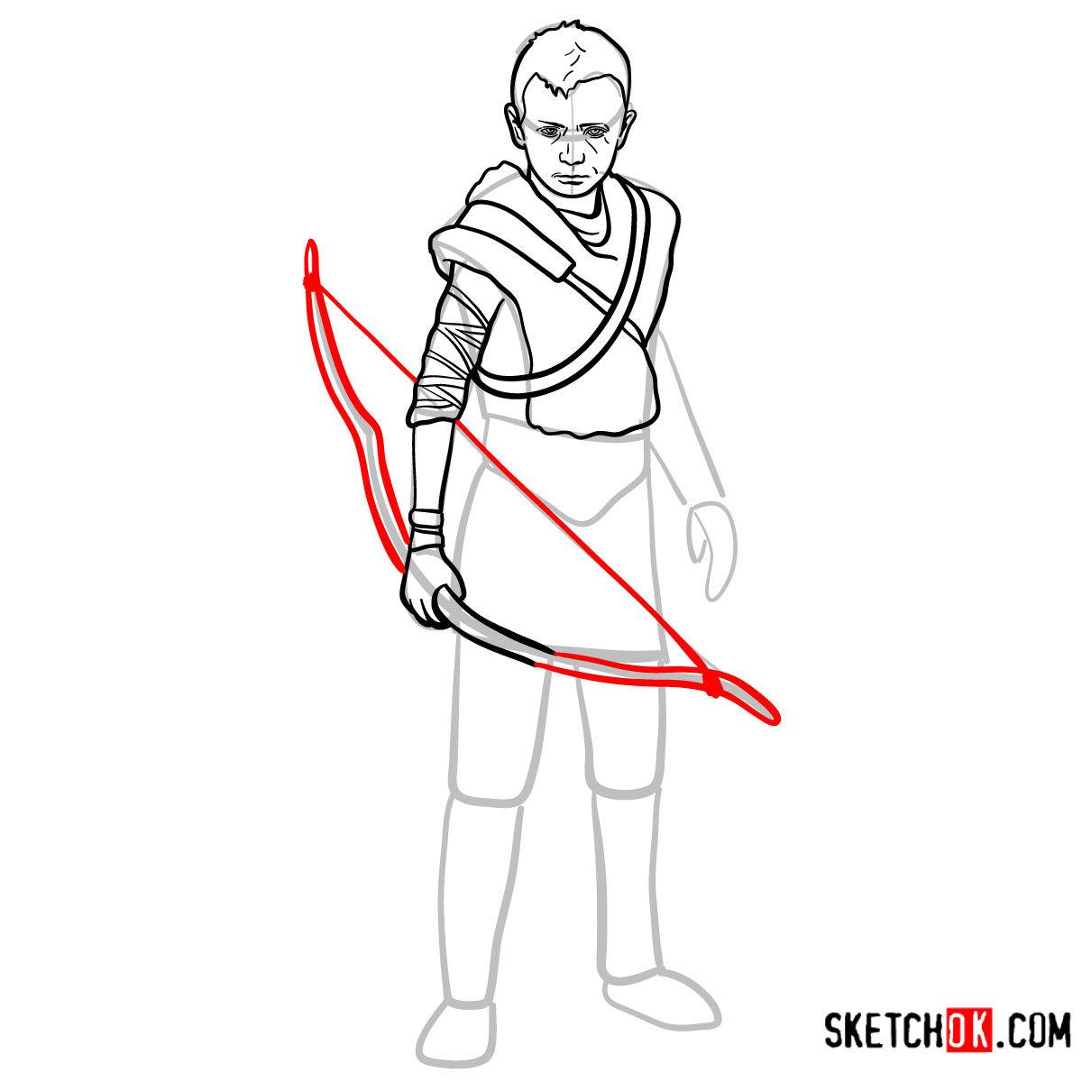How to draw Atreus   God of War - step 11