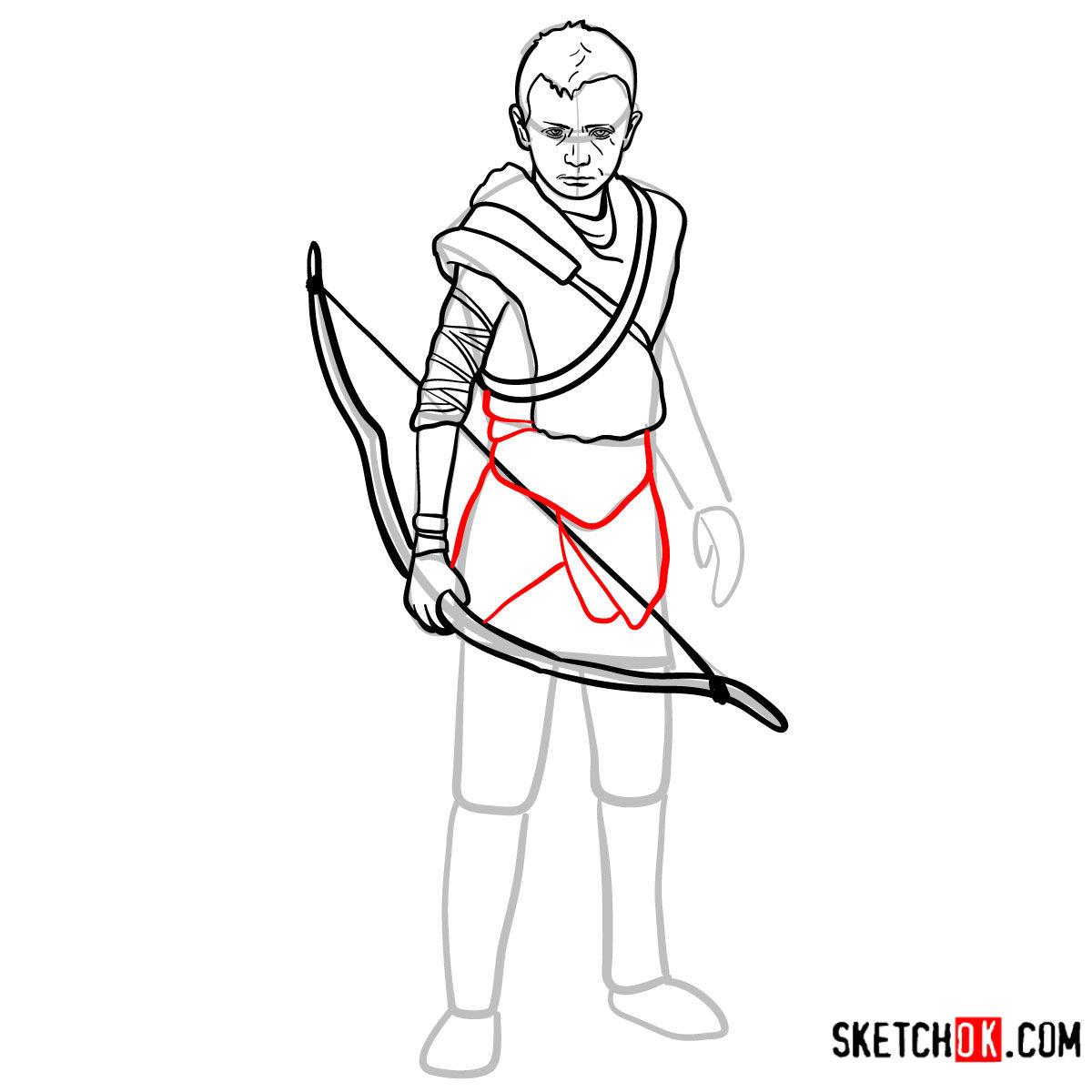 How to draw Atreus   God of War - step 12