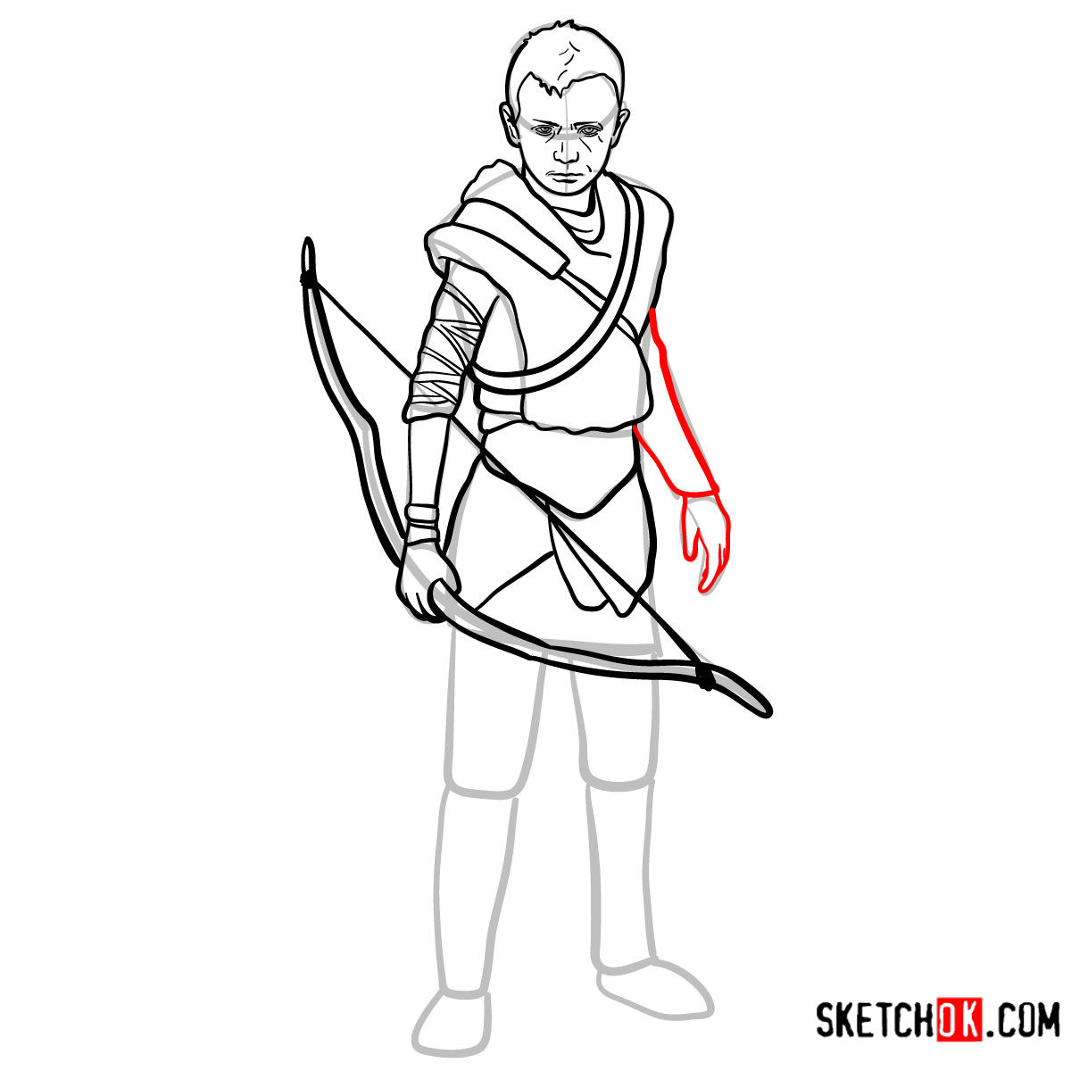 How to draw Atreus   God of War - step 13