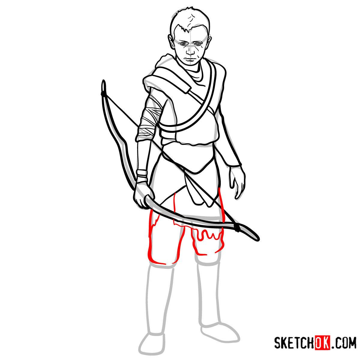 How to draw Atreus   God of War - step 14