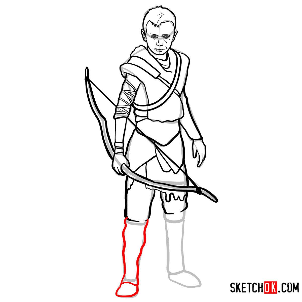 How to draw Atreus   God of War - step 15