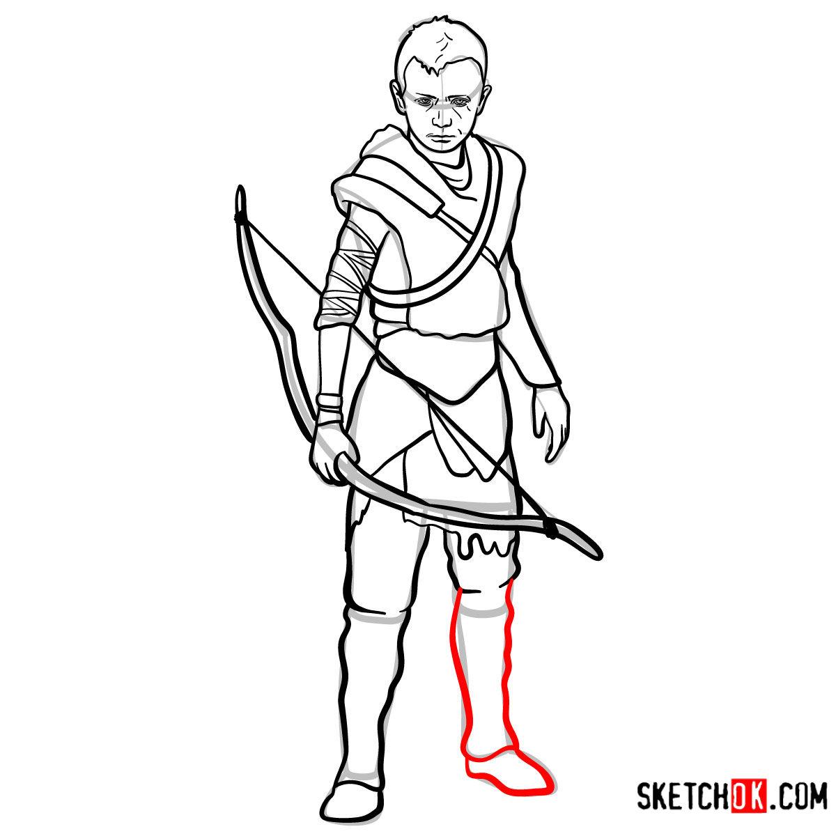 How to draw Atreus   God of War - step 16
