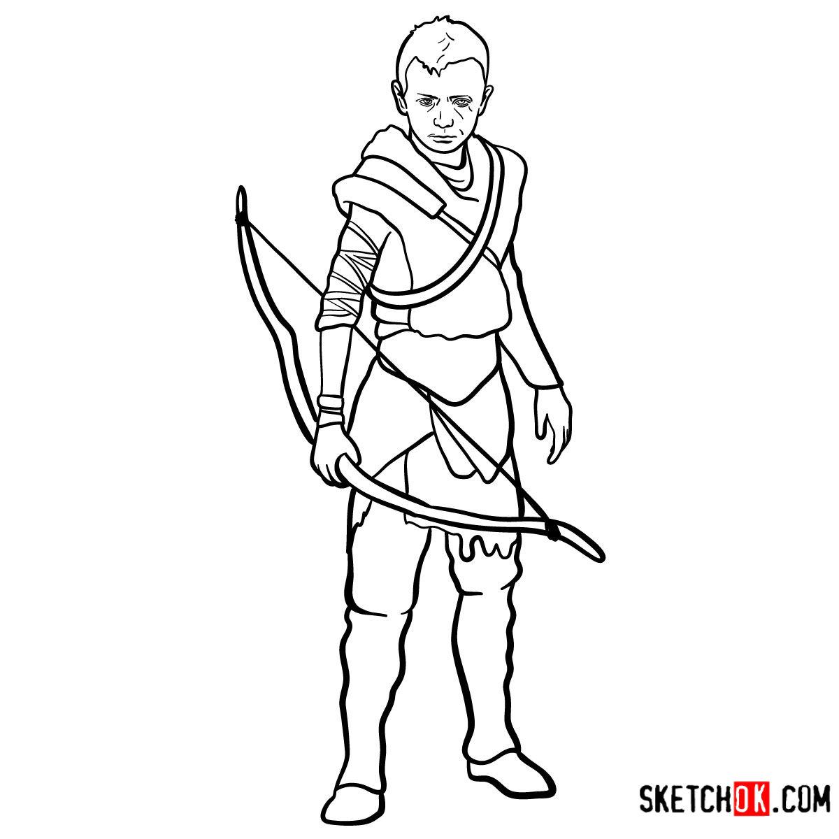 How to draw Atreus | God of War