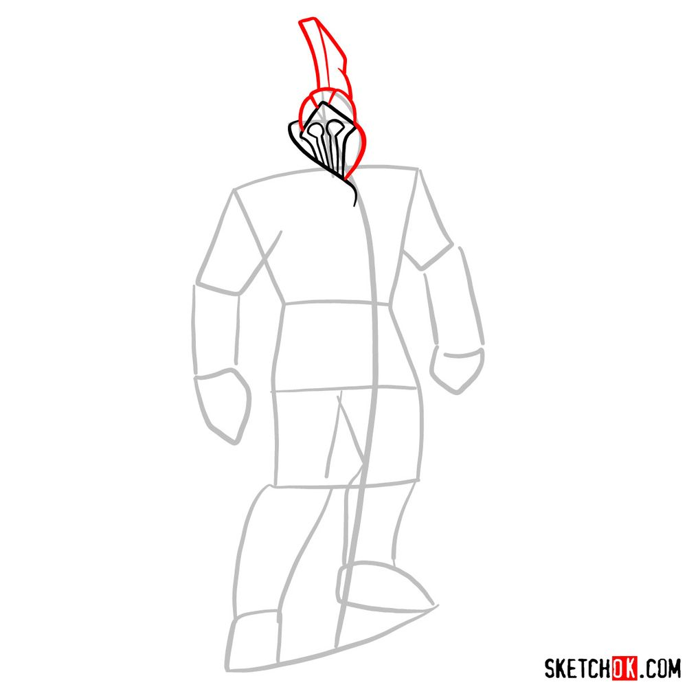 How to draw Talos from God of War - step 04