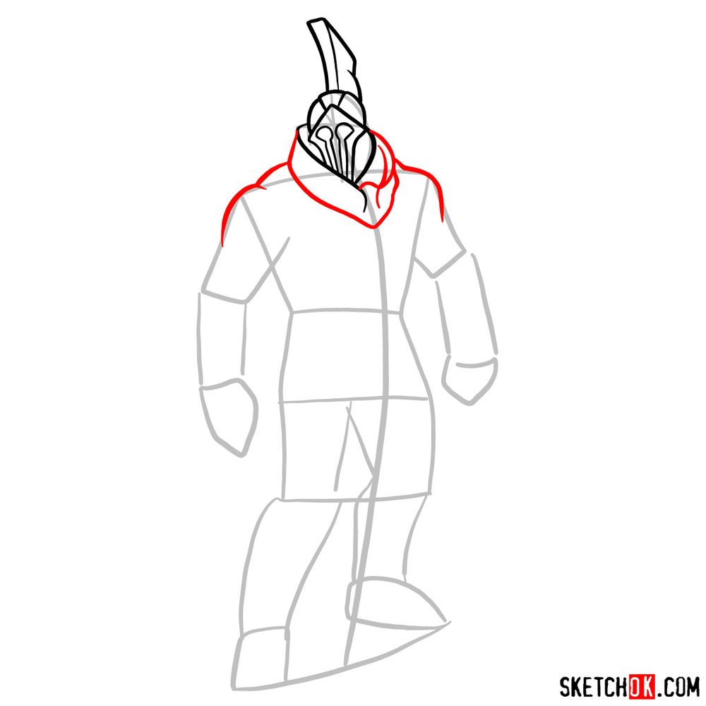 How to draw Talos from God of War - step 05