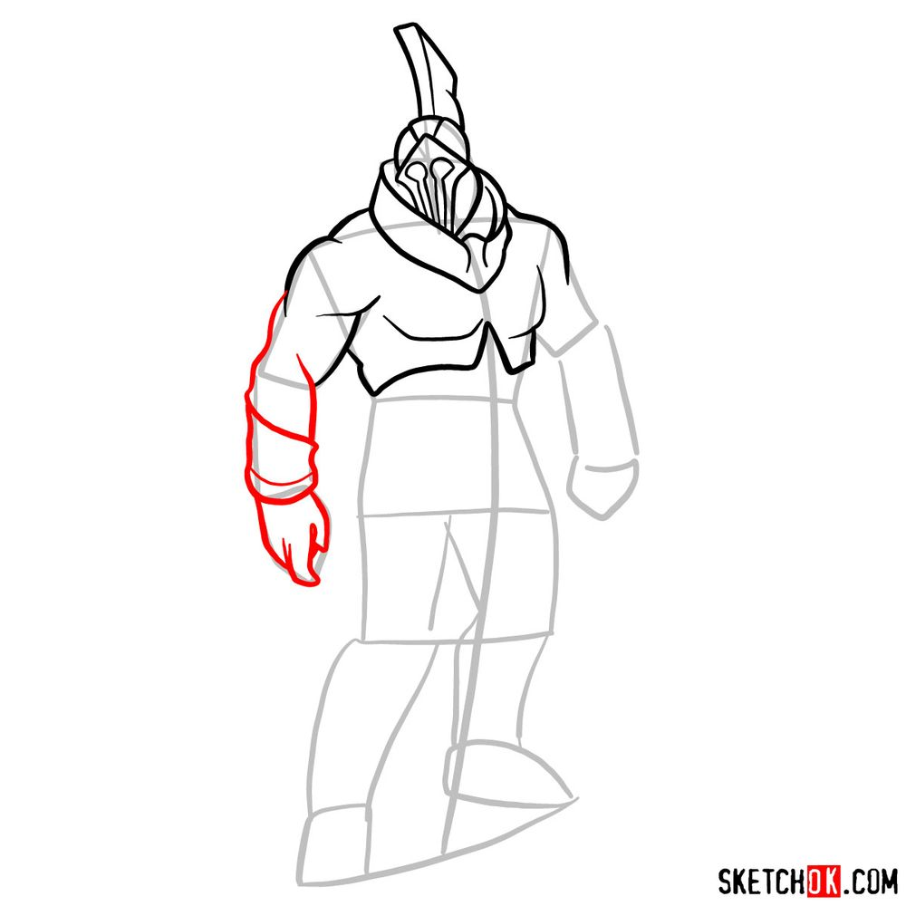 How to draw Talos from God of War - step 07