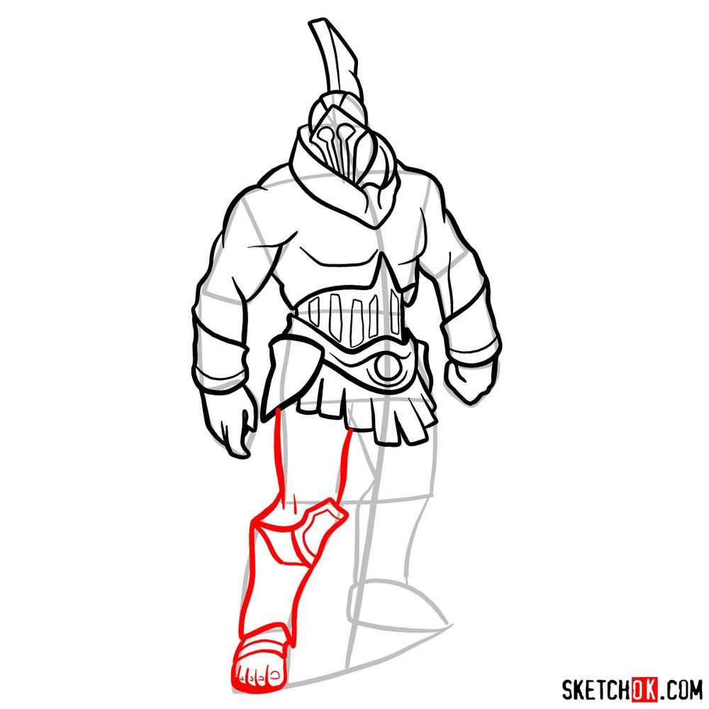 How to draw Talos from God of War - step 11