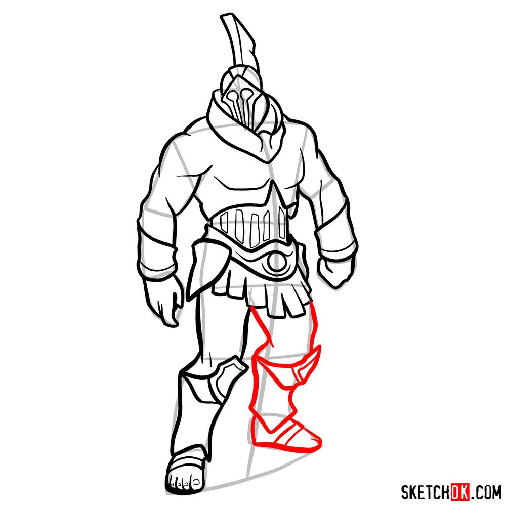 How to draw Talos from God of War - step 12