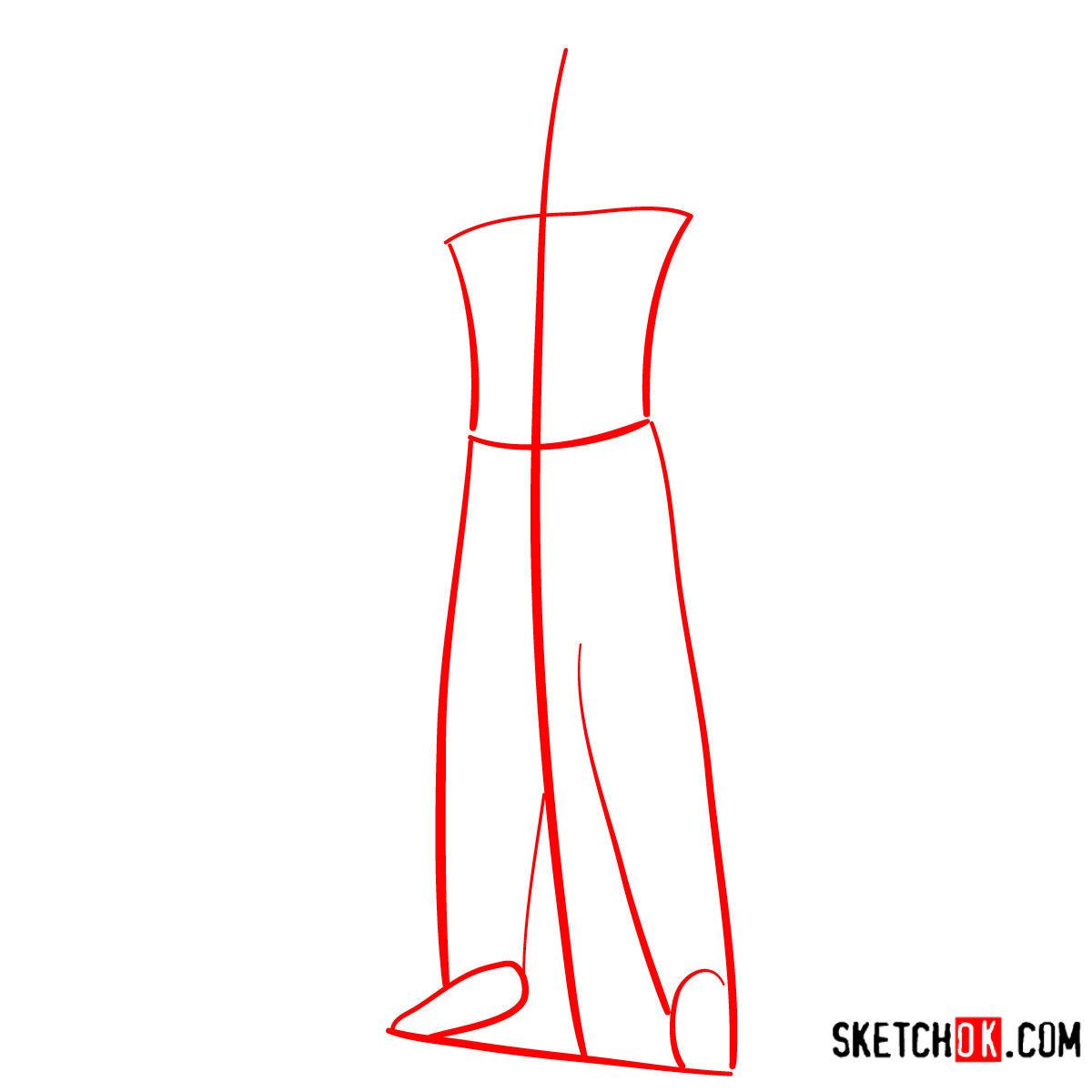 How to draw the Warlock | Destiny - step 01