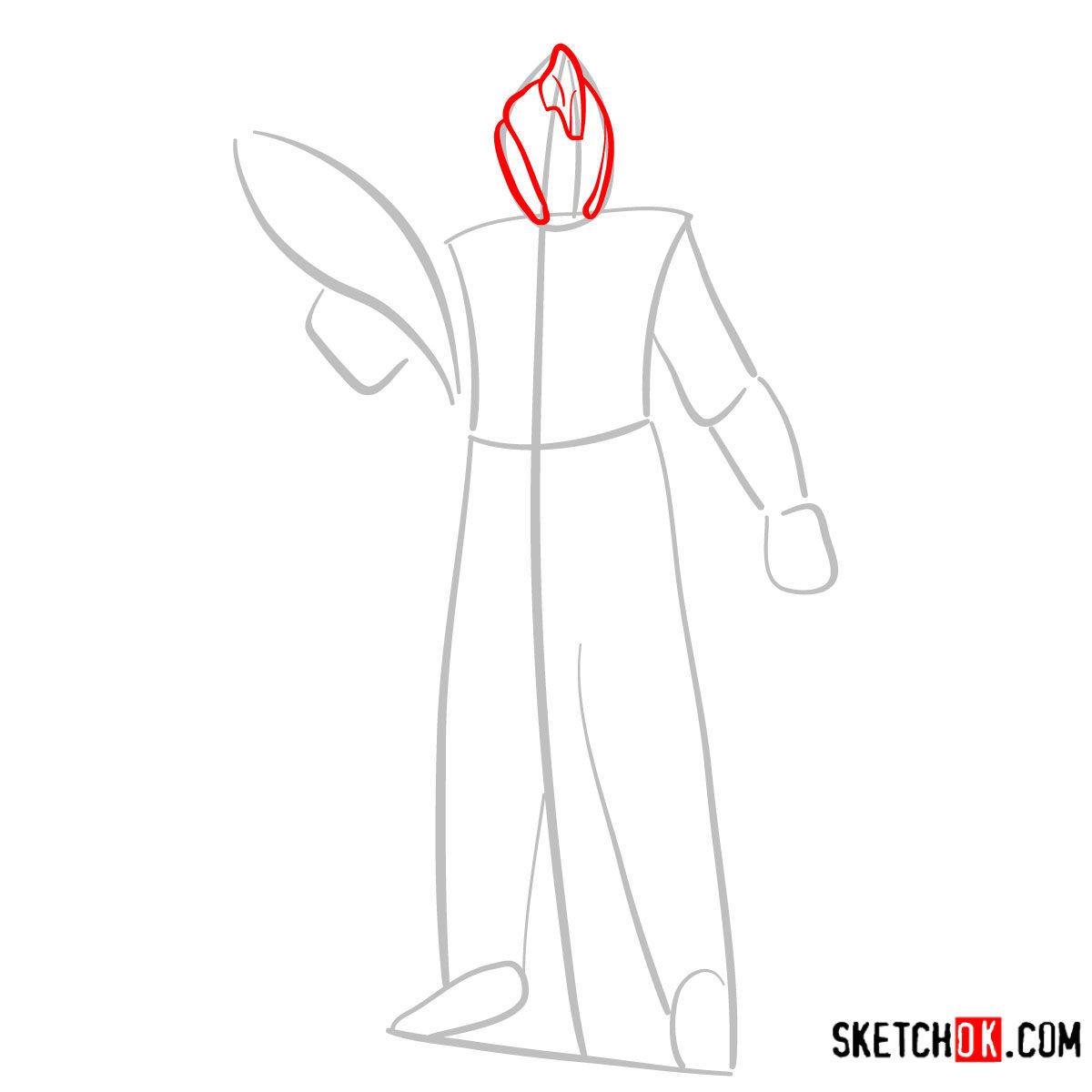 How to draw the Warlock | Destiny - step 03