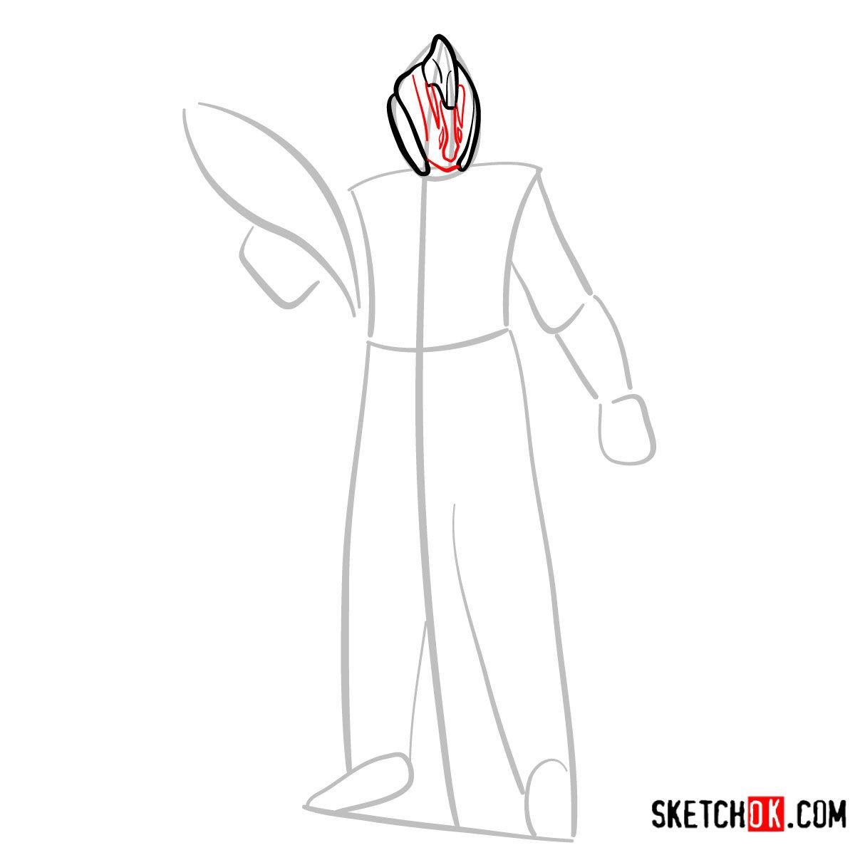 How to draw the Warlock | Destiny - step 04