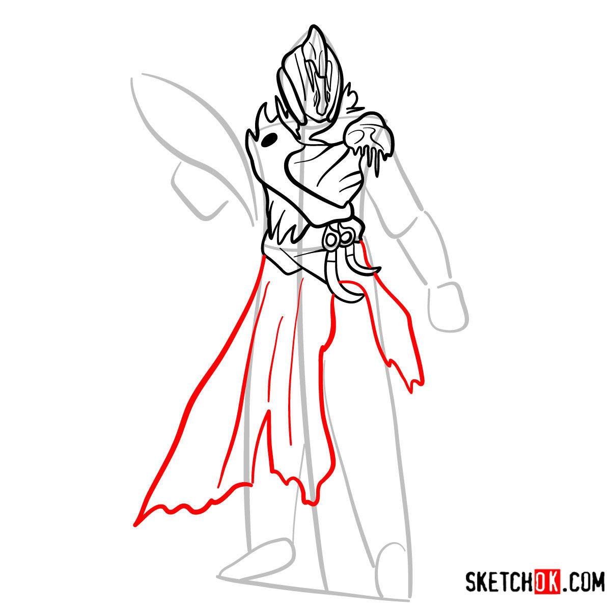 How to draw the Warlock | Destiny - step 08