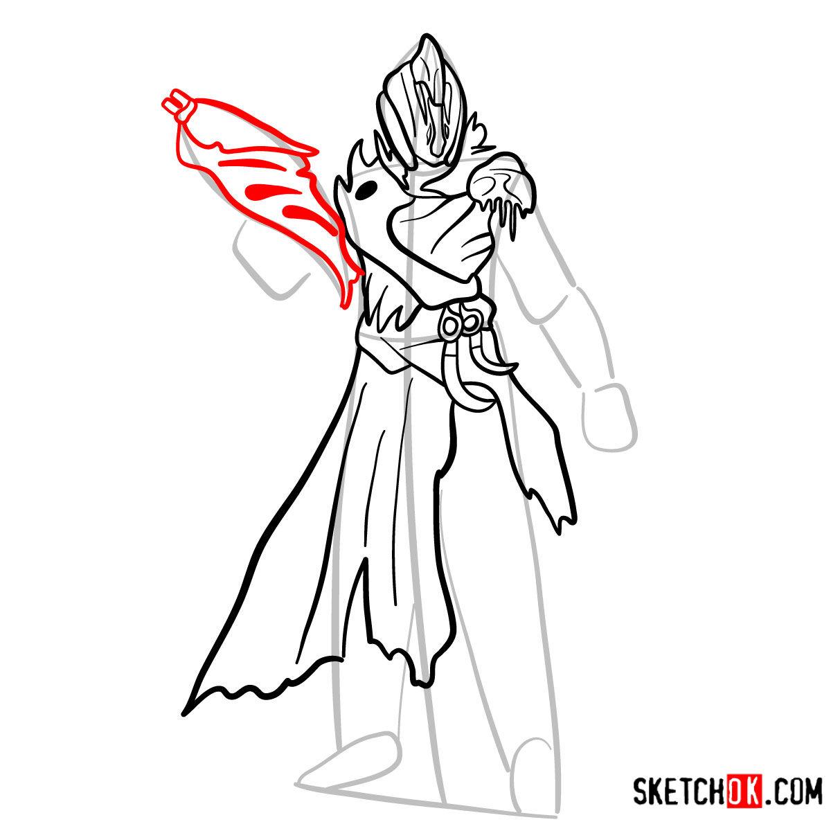 How to draw the Warlock | Destiny - step 09