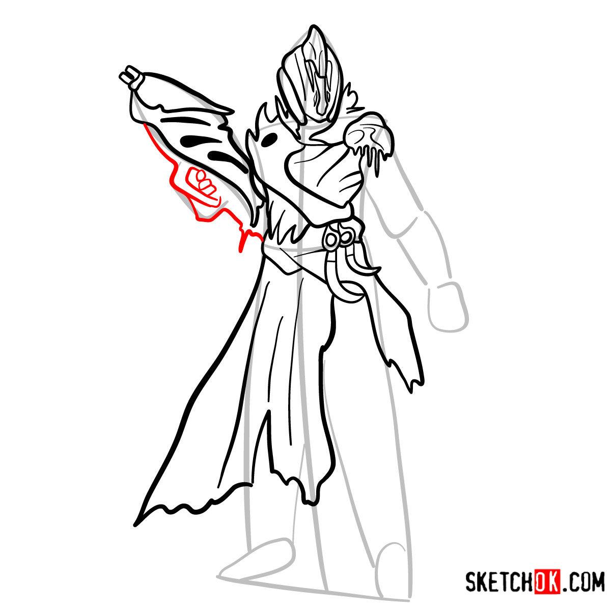 How to draw the Warlock | Destiny - step 10