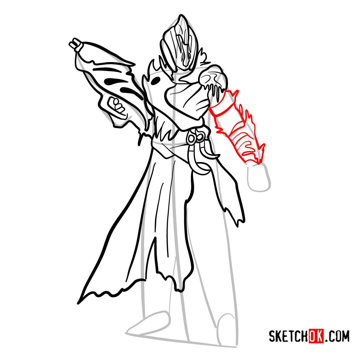 How to draw the Warlock | Destiny - step 11