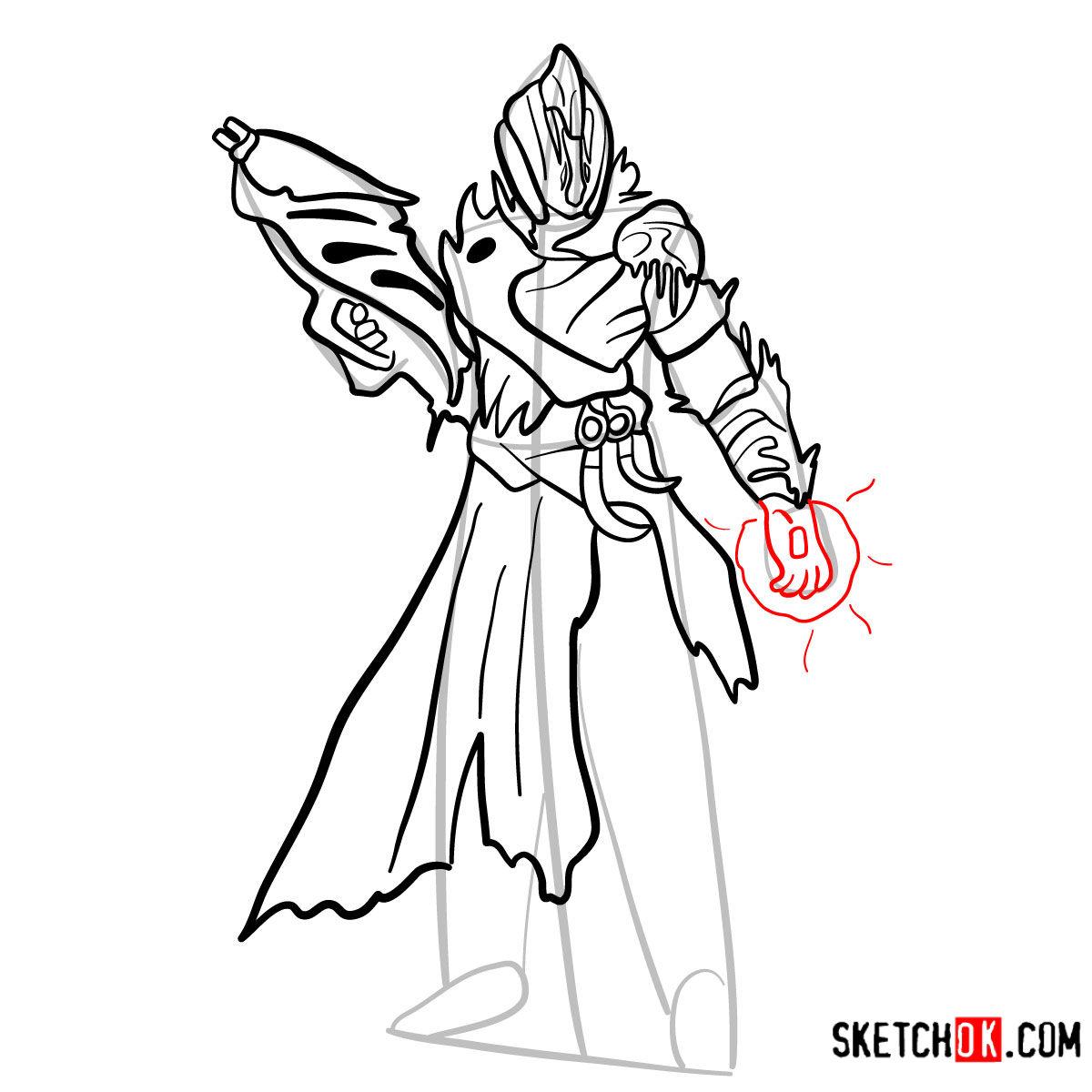 How to draw the Warlock | Destiny - step 12