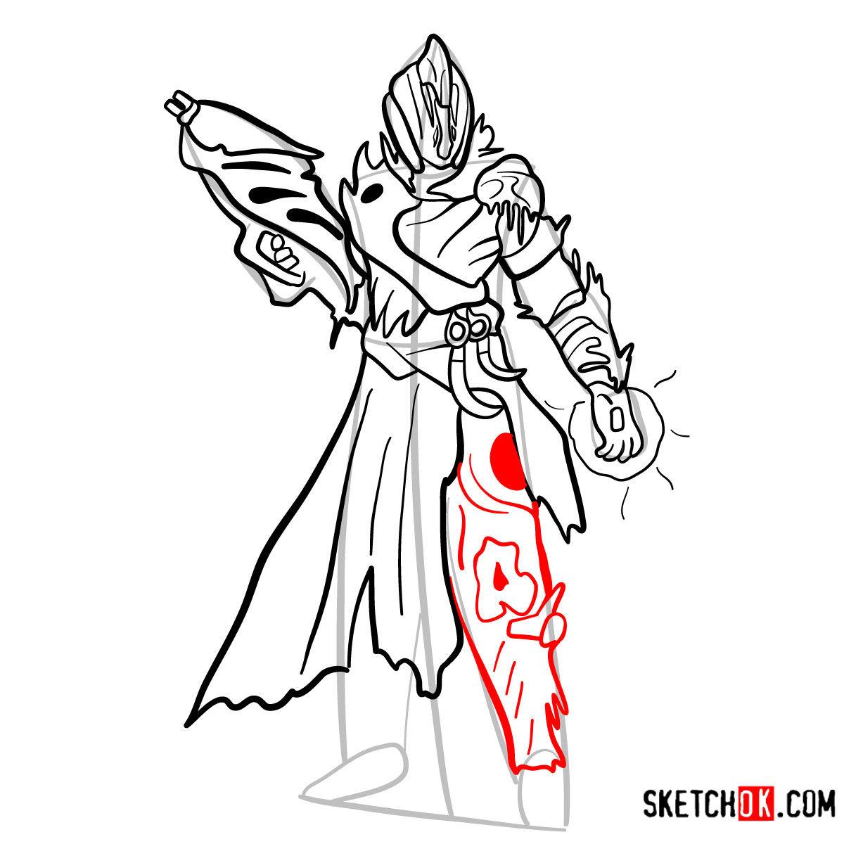 How to draw the Warlock | Destiny - step 13