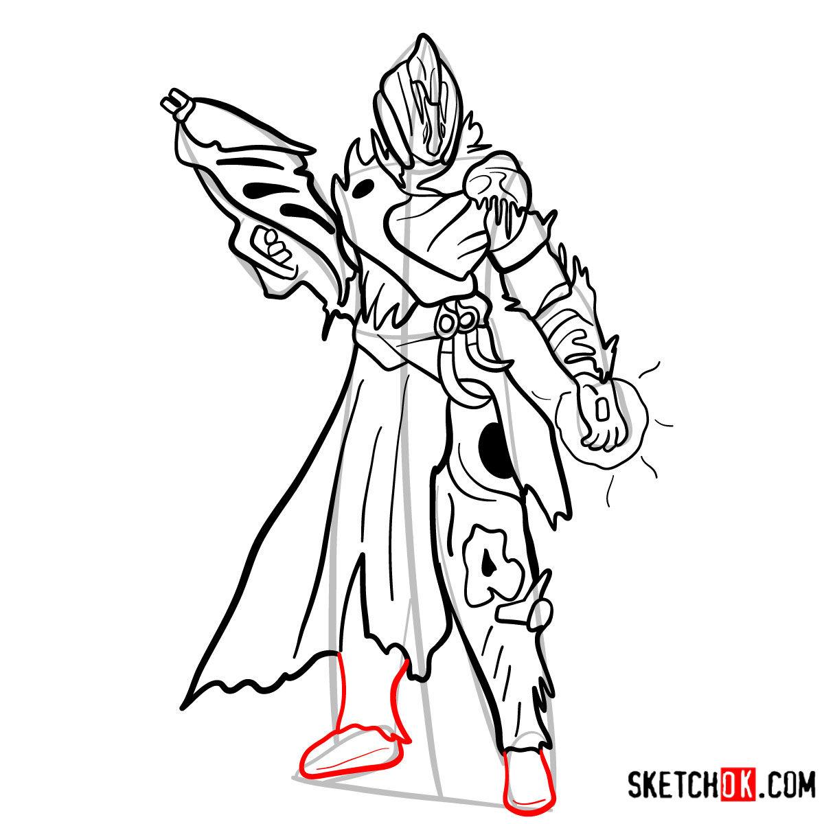 How to draw the Warlock | Destiny - step 14