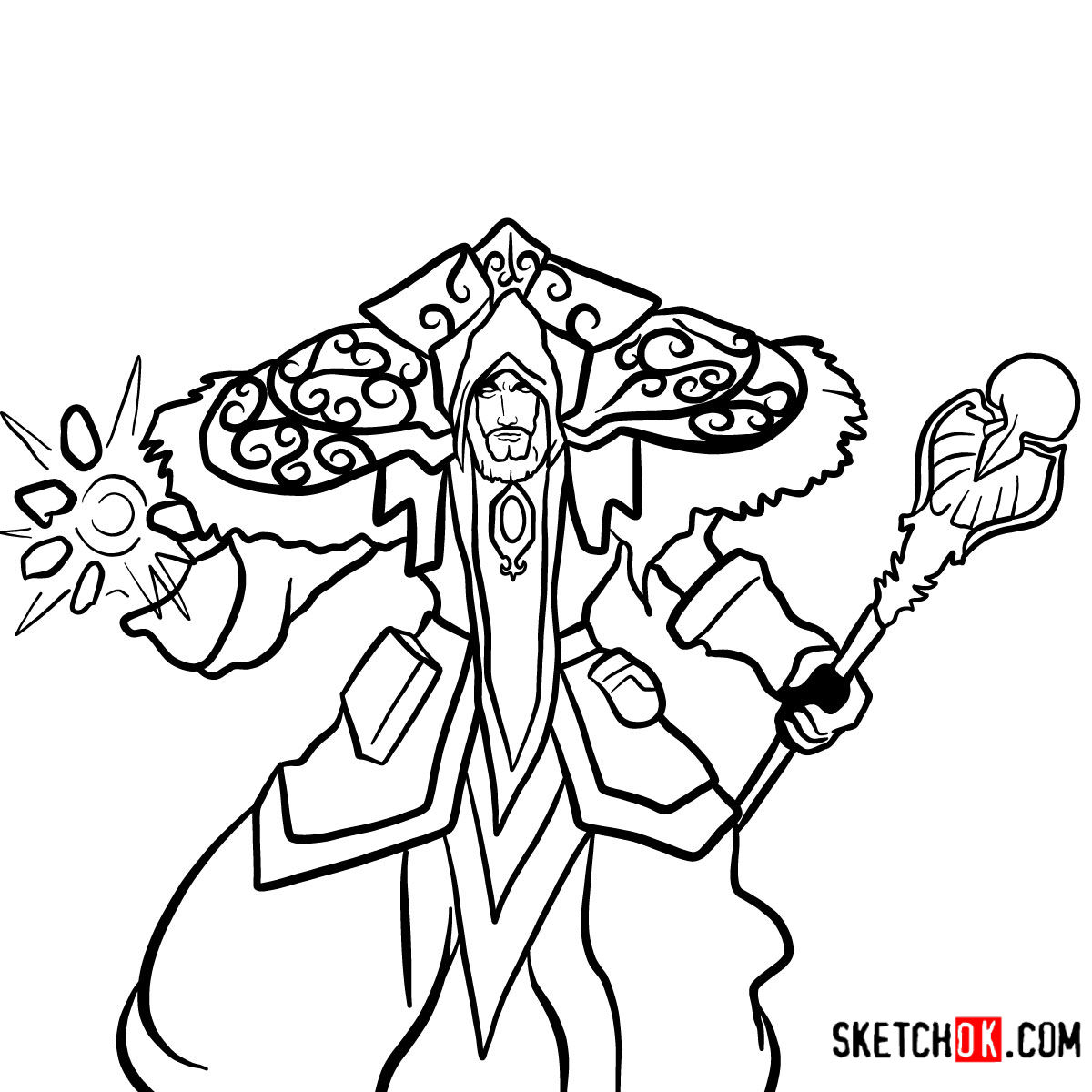 How to draw Magus Medivh | World of Warcraft