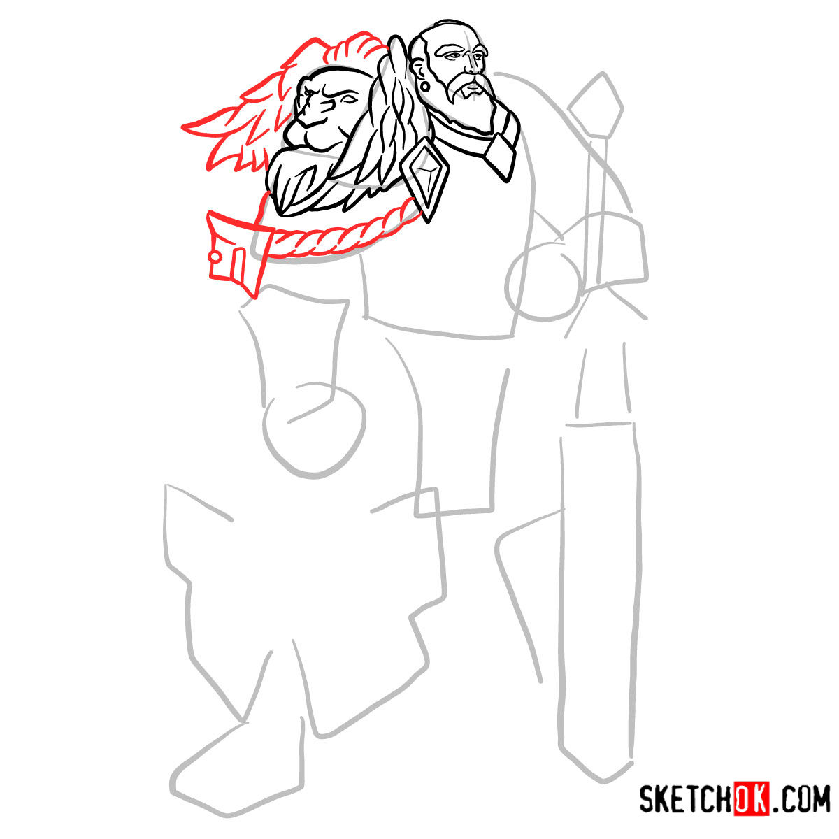 How to draw Lord Anduin Lothar | World of Warcraft - step 07