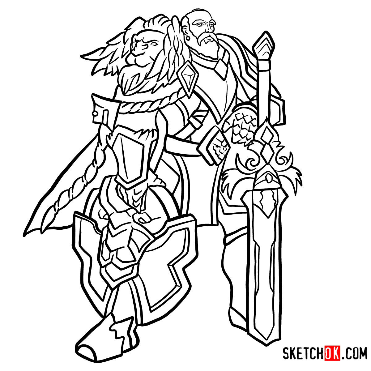 How to draw Lord Anduin Lothar | World of Warcraft - coloring