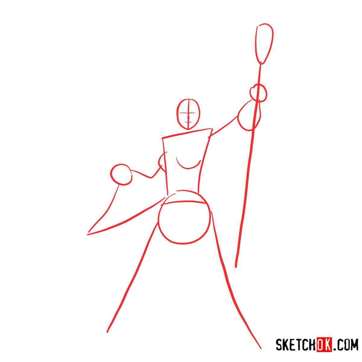 How to draw Aegwynn | World of Warcraft - step 01