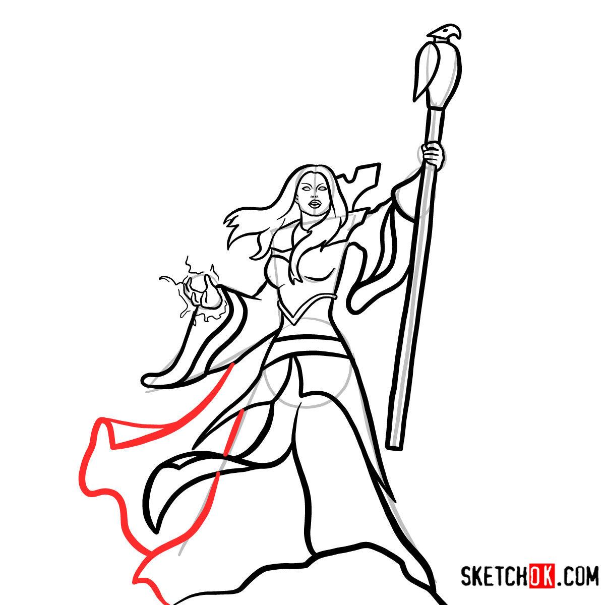 How to draw Aegwynn | World of Warcraft - step 14